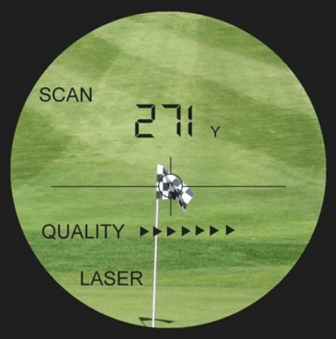 digital 7x pocket golf range finder