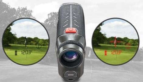 laser rangefinder with red display
